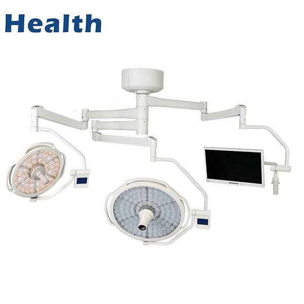 LEDD500 / 700C + M天花板LED双圆顶手术室灯与视频相机特色图像