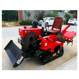 Multifunctional Cultivating Machine 25-35 Horsepower Crawler Rotary Tiller Soil Loosening And Weeding Machine