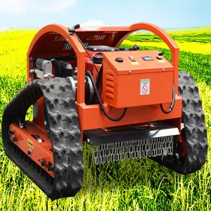 Crawler Type Remote Control Lawn Mower Mountain Land Reclamation Lawn Mower Gasoline Lawn Mower