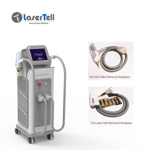 multifunctional use beauty laser  nd yag tattoo removal + 808 diode laser hair removal