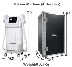 Factory easy operation dissolve fat rebuild muscle magnetic energy EMS body sculpting machine