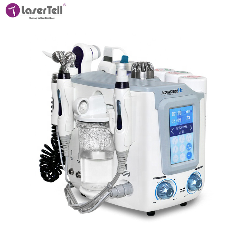 Professional facial beauty H2-O2 7 in1 deep cleaning Water dermabrasion hydro portable beauty Aqua oxygen facial Peel machine