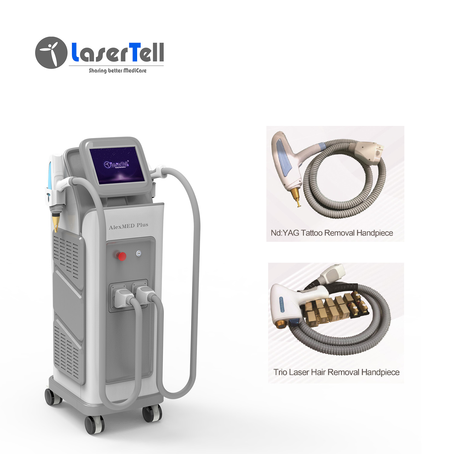 TUV Medical CE approved 755 808 1064nm laser hair removal / diode laser 755 808 1064 with alexandrite laser diode nd yag