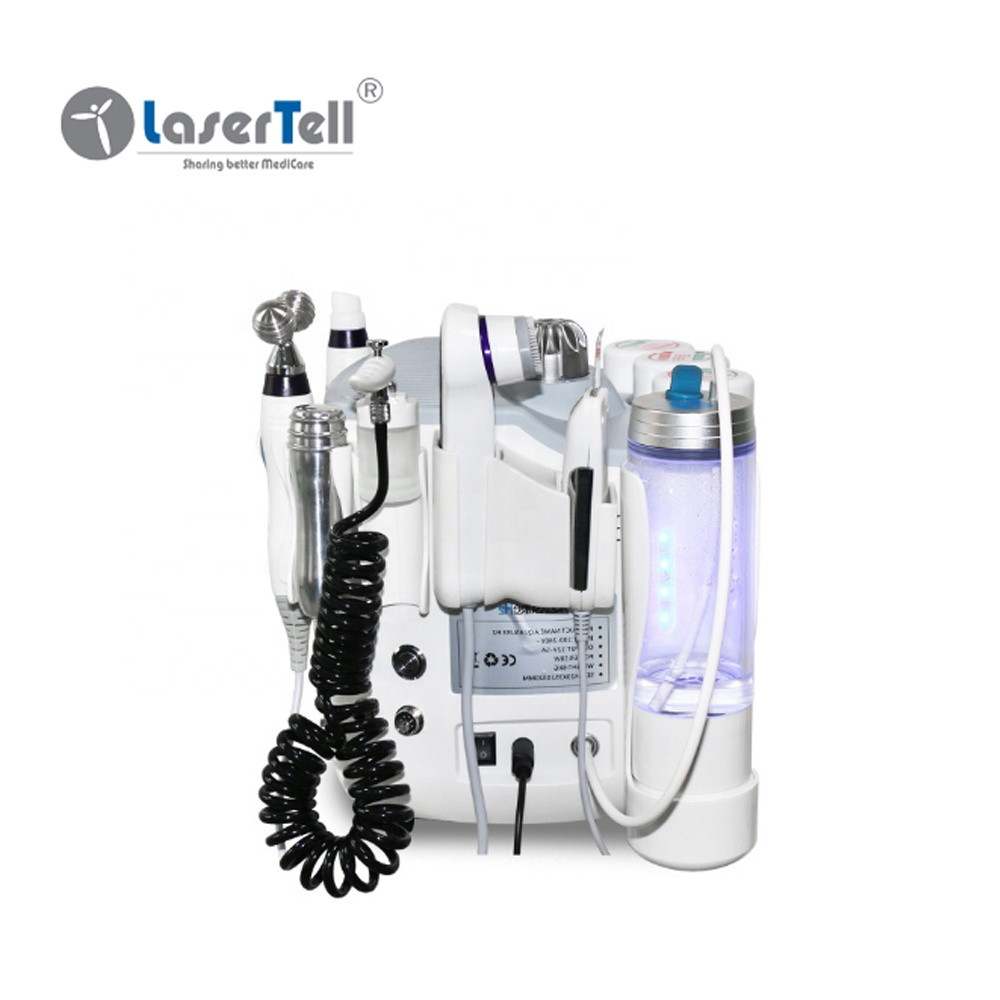 6 in 1 H2O2 hydron oxyggen geenerator skin cleaning machine hydro microdermabrasion facial machine