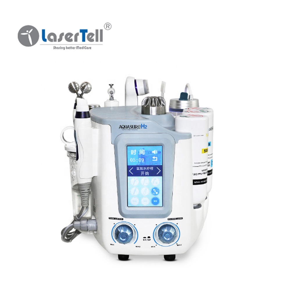 Clean Face Peeling Galvanic Hydro portable small bubble blackhead Oxygen Lifting Facial Microdermabrasion Machine