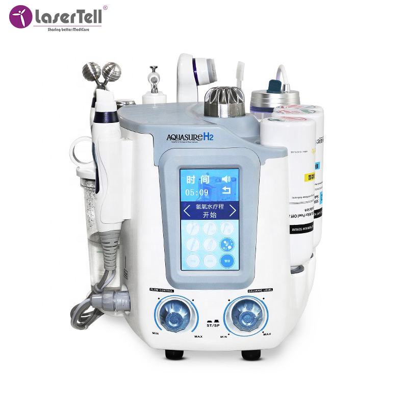 Professional H2-O2 7 in1 deep cleaning Water small bubble dermabrasion hydro portable beauty Aqua oxygen facial Peel machine