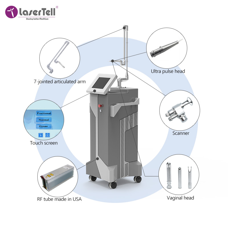 fractional laser machine for beauty body / co2 fractional laser machine skin resurfacing medical