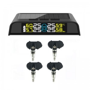100% DIY installation Solar Tire pressure monitoring system(TPMS) in cheap fty price