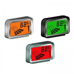 Chinese Manufacturer Radar Eight-leveled Rectangle Detection Car Reverse Parking system with colorful LCD Display