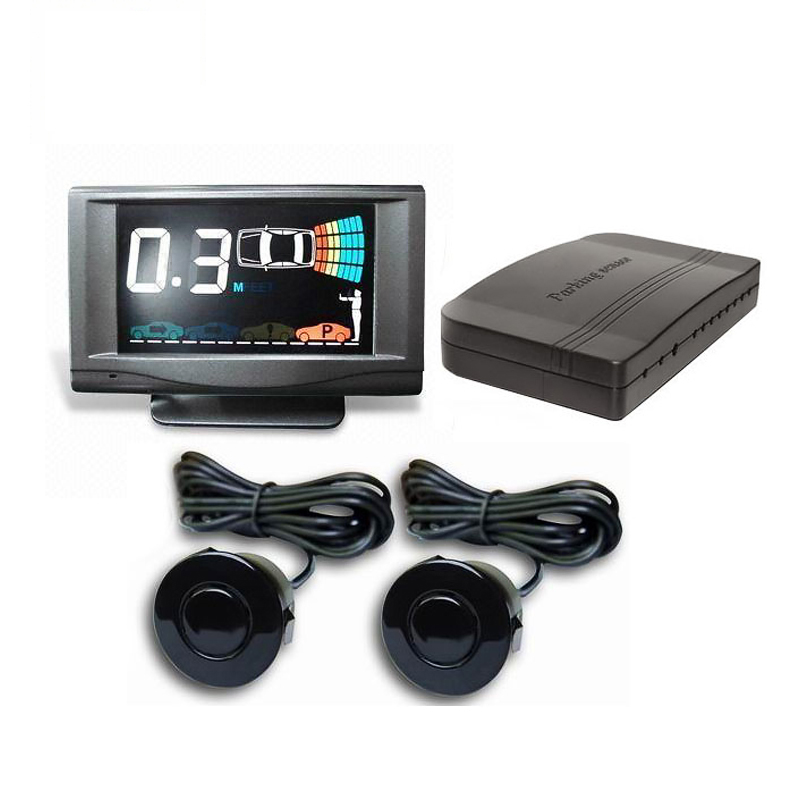 Front & rear Parking Sensor with 2/4/6/8 sensors with LCD display human voice alarm Featured Image