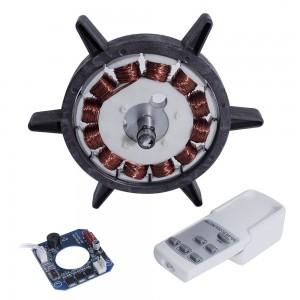 BL15036外转子无刷直流吊扇电机,带无刷直流电机控制器和遥控器