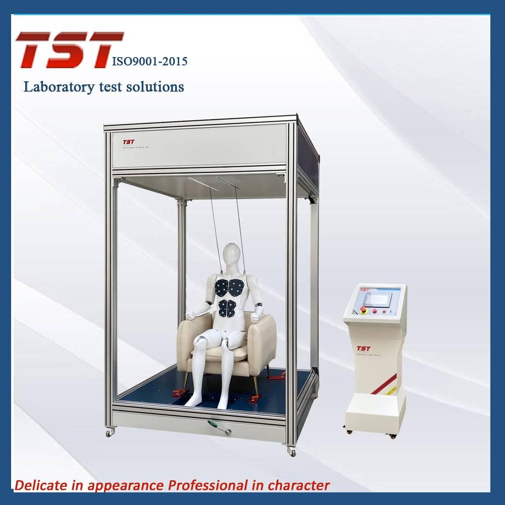 智能动态机器人对沙发坐垫表面和靠背进行反复加载疲劳耐久性试验