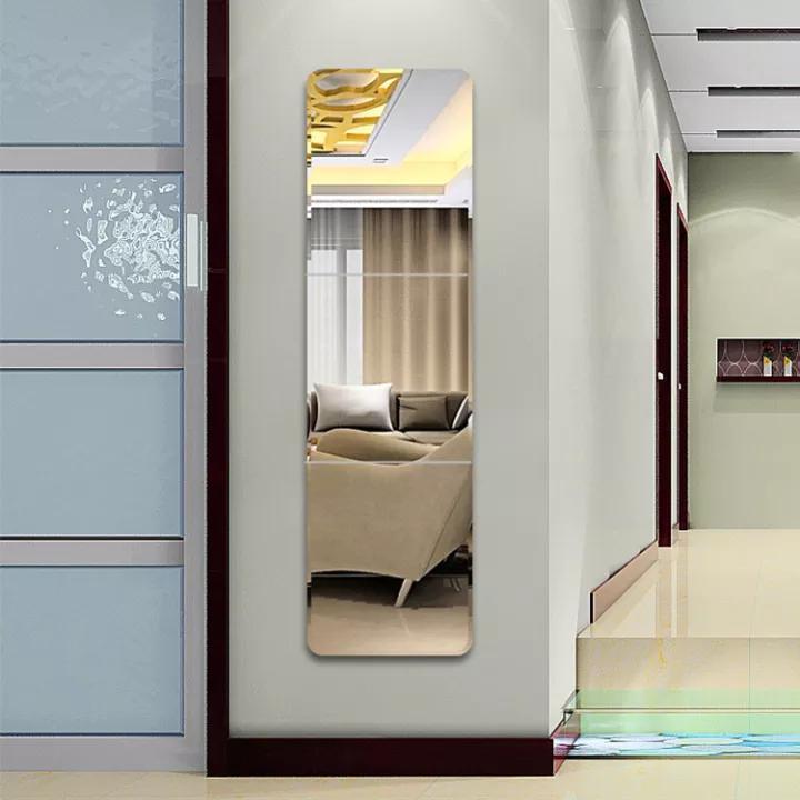 China Square Shape Acrylic Decorative, Wall Decor Mirror For Living Room